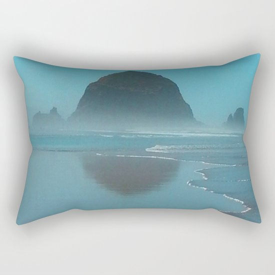 Haystack Rock, Cannon Beach Oregon Rectangular Pillow