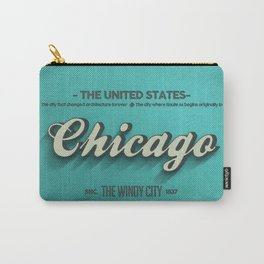 Vintage Chicago Carry-All Pouch