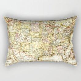 1867 USA Map Rectangular Pillow