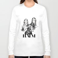 haim Long Sleeve T-shirts featuring Haim the band by Mariam Tronchoni