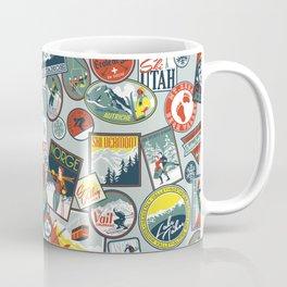 Retro Ski Badges Coffee Mug