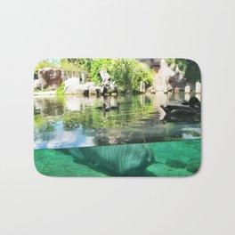 Ducks and a Hippo at Busch Gardens Tampa Bay Bath Mat