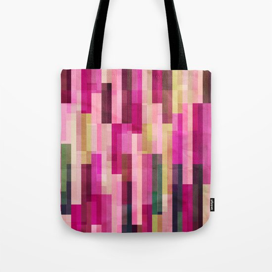 Pinks and Parallels Tote Bag