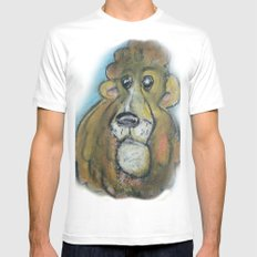 Lion MEDIUM White Mens Fitted Tee