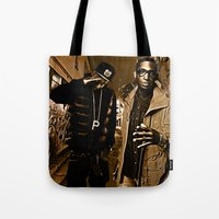 wiz khalifa Tote Bags featuring Wiz & Tempah by D77 The DigArtisT