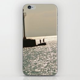 Silhouettes on the Corinth Canal iPhone Skin