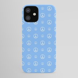Peace and love 4 - blue iPhone Case