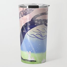 Soft Light On Soft Bunnies In Aloquil's Glades Travel Mug