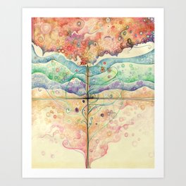 Where everything is music Art Print