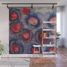 Red and Blue Eggs Wall Mural