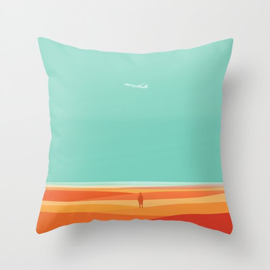 Where the sea meets the sky Throw Pillow