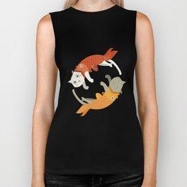 Fish A Cat Fish Cat Biker Tank