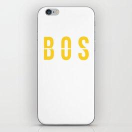 BOS - Boston Airport Massachusetts - Airport Code Souvenir or Gift Design iPhone Skin
