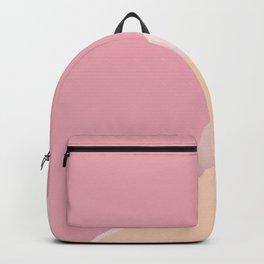 Rose gold, pink & orange geometric design Backpack