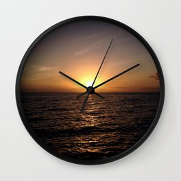 Trinidad Sunset Wall Clock