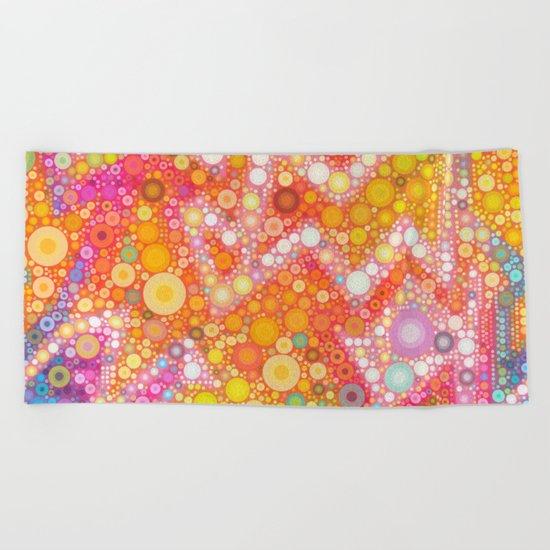 Sunshine Bubbles Beach Towel