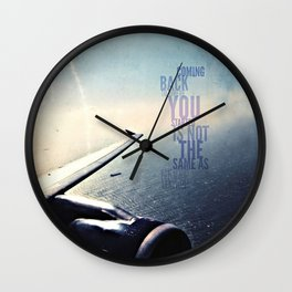 coming back v. more sky, android case Wall Clock