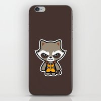 rocket raccoon iPhone & iPod Skins featuring Talking Raccoon by Papyroo