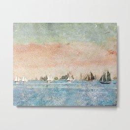 Gloucester harbor fishing fleet by 'Winslow'Homer' Metal Print