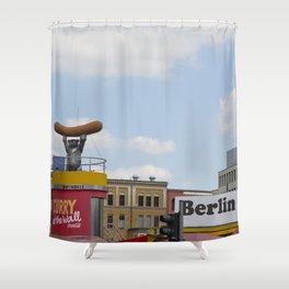 Berlin Love You Shower Curtain