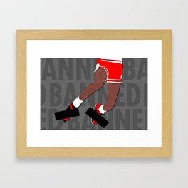 Banned (Grey) Framed Art Print