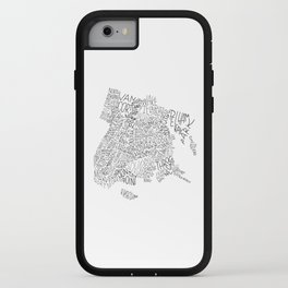 Bronx - Hand Lettered Map iPhone Case
