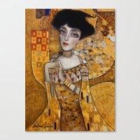 klimt Canvas Prints featuring klimt by Antonio Lorente