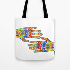 A really colourful hand Tote Bag