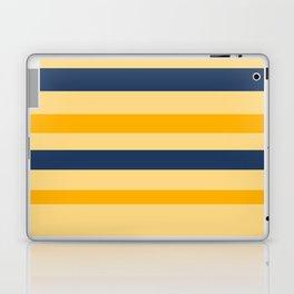 Yellow  blue  stripes  horizontal Laptop & iPad Skin