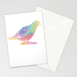 Splash Color Pigeon Stationery Cards