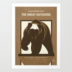 No824 My The Great Outdoors minimal movie poster Art Print