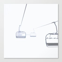 B&W Skilift Poster Canvas Print