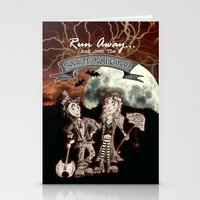 rock n roll Stationery Cards featuring Rock 'N' Roll Circus by Melissa Morrison