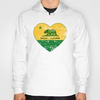 oakland Hoodies featuring Green and Yellow Oakland California Heart by NorCal