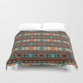 Southwest Design Turquoise Terracotta Duvet Cover