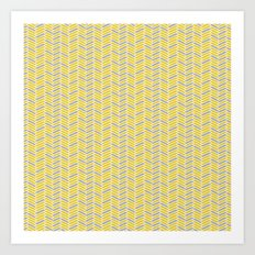 inspired herringbone Art Print