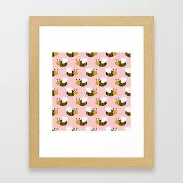 Bee pattern print honey bees nature inspired cute nursery kids gender neutral pattern Framed Art Print