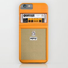 Retro Orange guitar electric amp amplifier iPhone 4 4s 5 5s 5c, ipad, tshirt, mugs and pillow case iPhone 6 Slim Case
