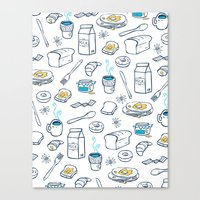 breakfast Canvas Prints featuring BreakfasT by Ceren Aksu Dikenci