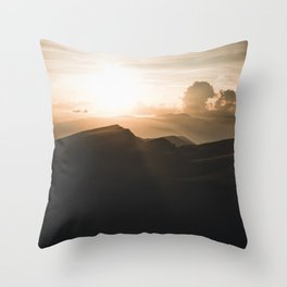 a beautiful Sunset in the Dolomites Throw Pillow