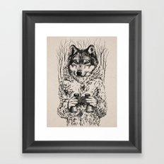A Wolf in Sheep's Clothing Framed Art Print