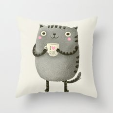 I♥kill (brown) Throw Pillow
