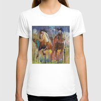 horses T-shirts featuring Horses by Michael Creese