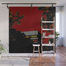 House & trees Wall Mural