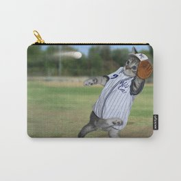 Baseball Catcher Kitten Carry-All Pouch