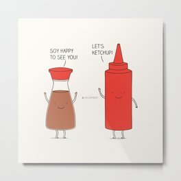friendly sauces Metal Print