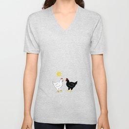 Hens and Sun Unisex V-Neck