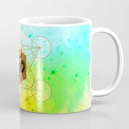 Sacred Geometry Metatron's Cube Om Chant Coffee Mug