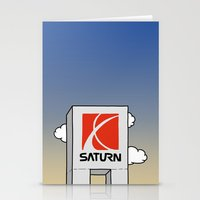 saturn Stationery Cards featuring Saturn by Josh LaFayette