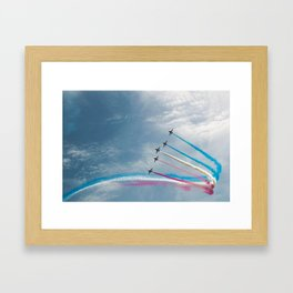 Toothpaste Sky Trail Framed Art Print